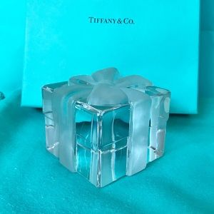 Tiffany & Co. Clear Crystal Present Paperweight